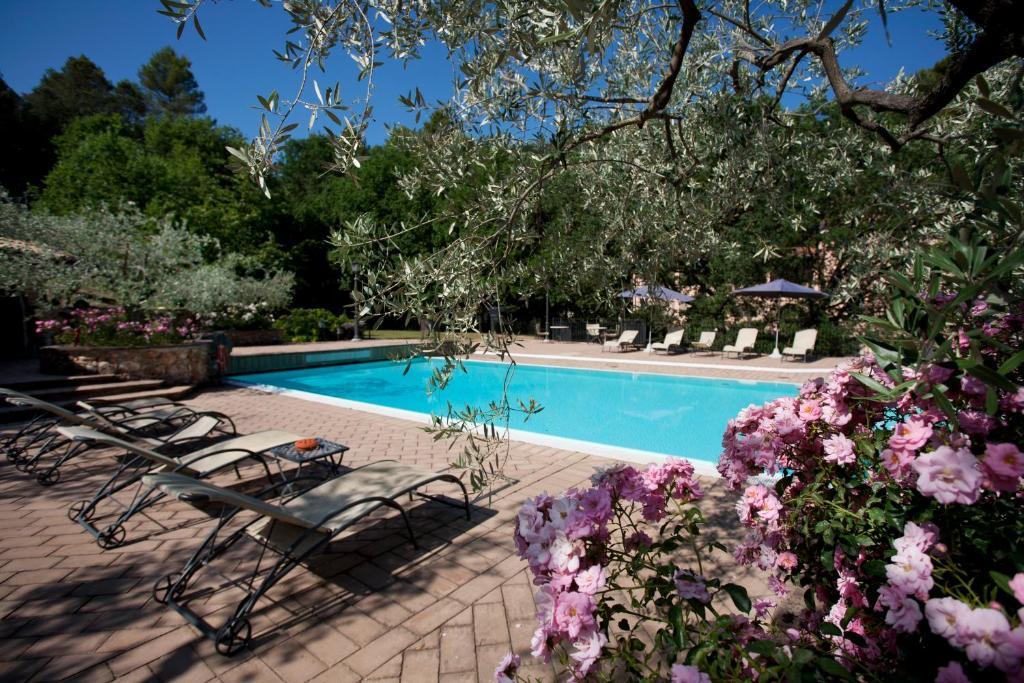 The swimming pool at or near La Macchia