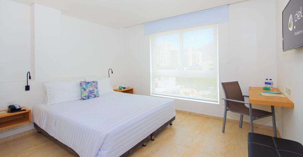 Cama o camas de una habitación en Del Mar Hotel