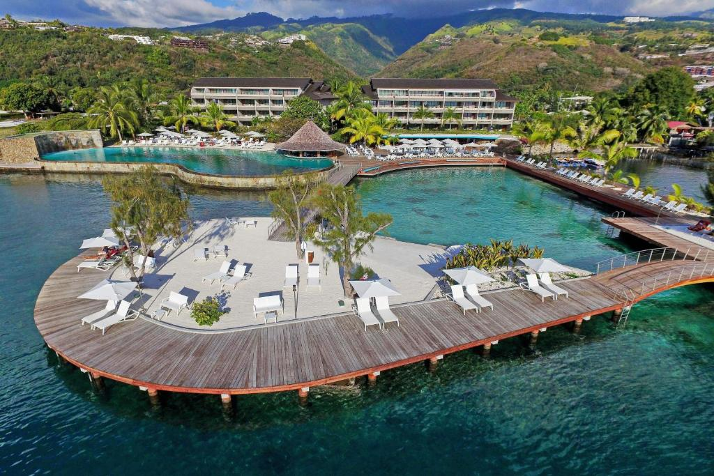 A bird's-eye view of Manava Suite Resort Tahiti