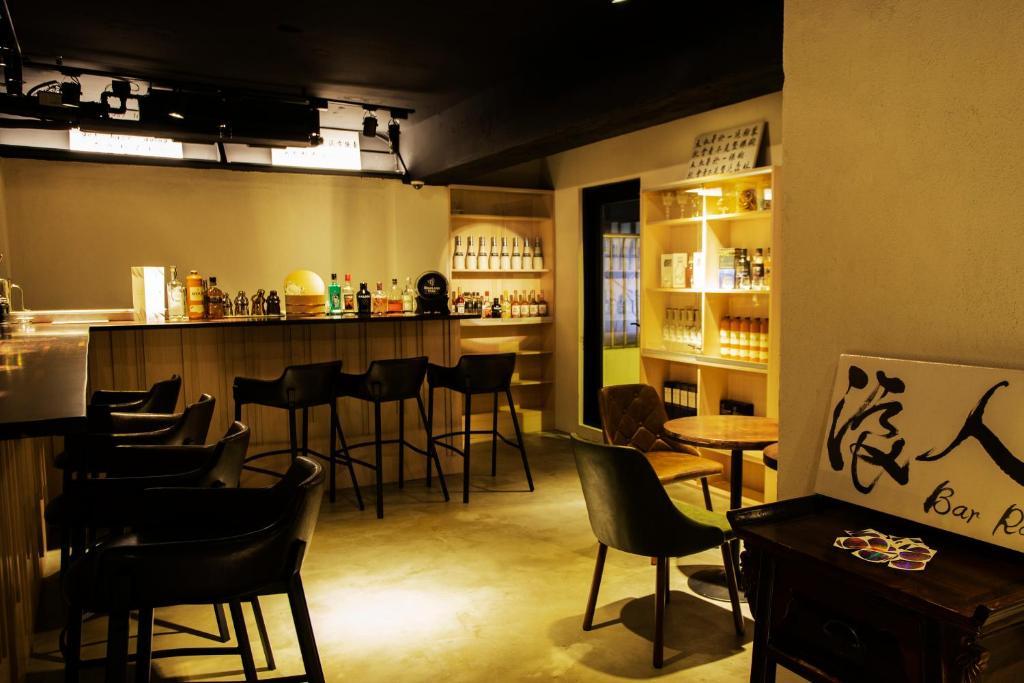 ห้องอาหารหรือที่รับประทานอาหารของ Just Live Inn-Taipei