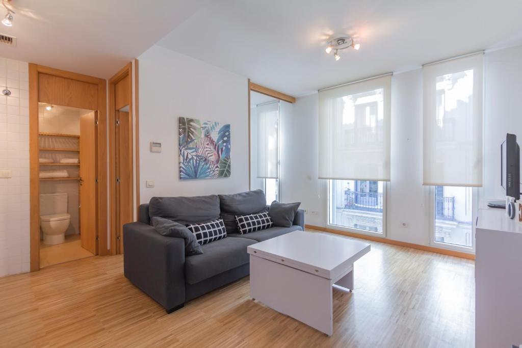 Ein Sitzbereich in der Unterkunft Luxury Apartment in Cervantes