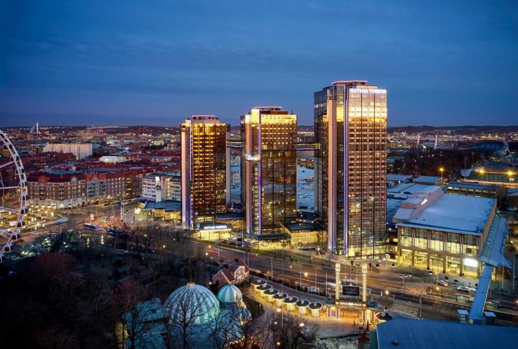 A bird's-eye view of Gothia Towers Hotel