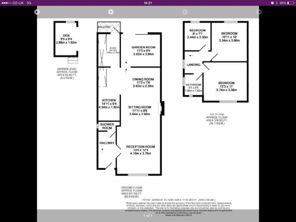 The floor plan of 27 Westgrove Lane Holiday Home