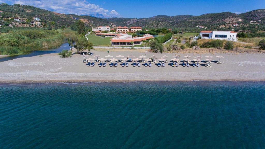 A bird's-eye view of Aktaion Resort