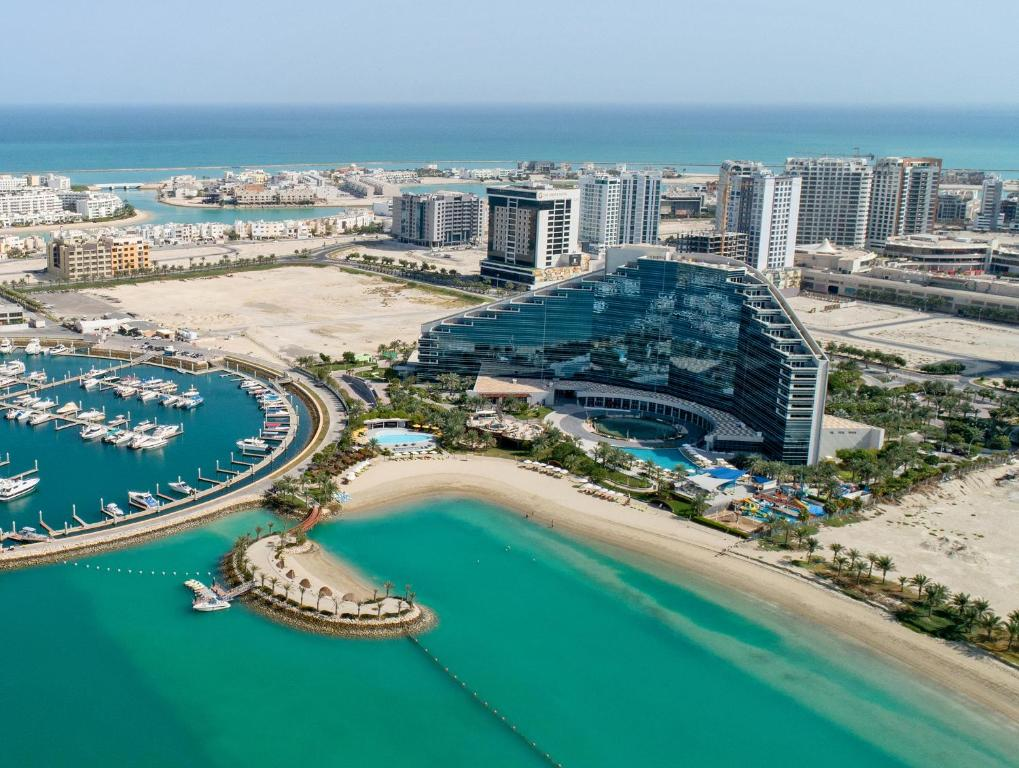A bird's-eye view of ART Rotana Amwaj Islands