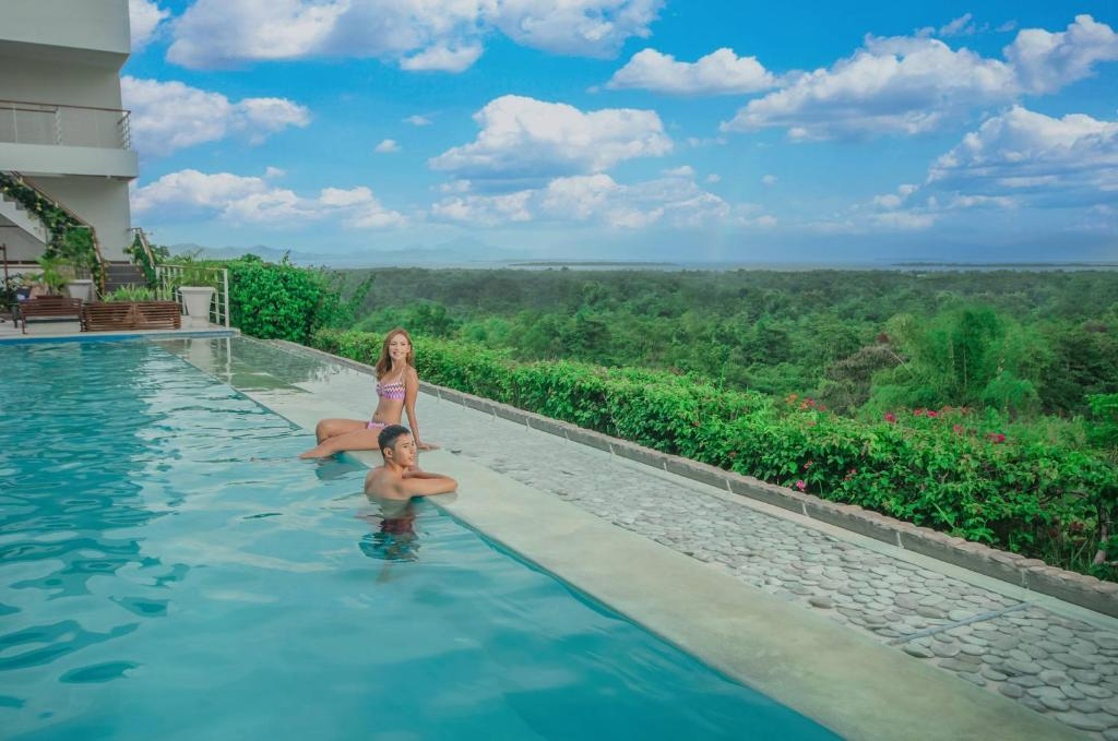 The swimming pool at or near Panja Resort Palawan