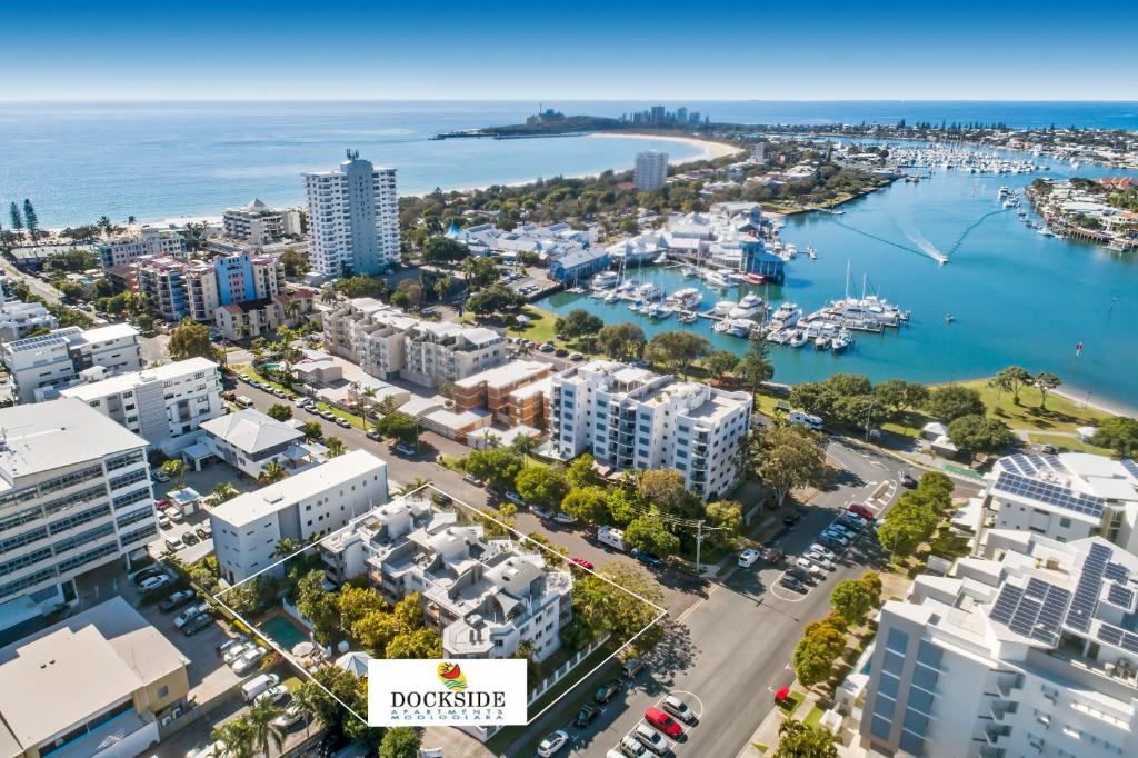 A bird's-eye view of Dockside Apartments Mooloolaba
