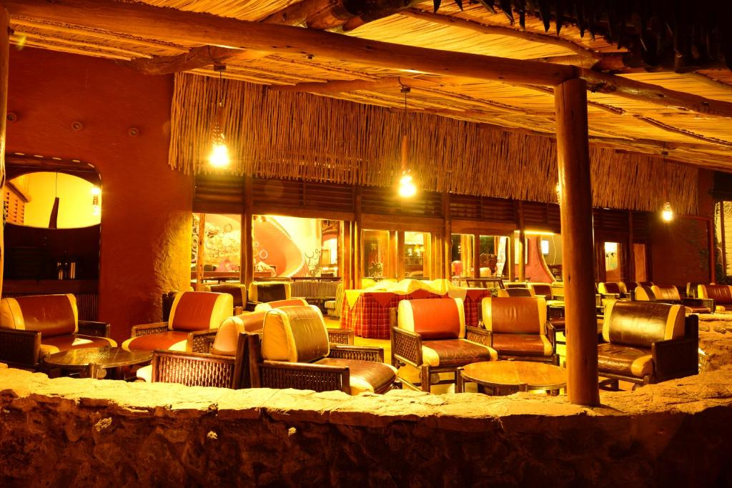 A restaurant or other place to eat at Amboseli Serena Safari Lodge