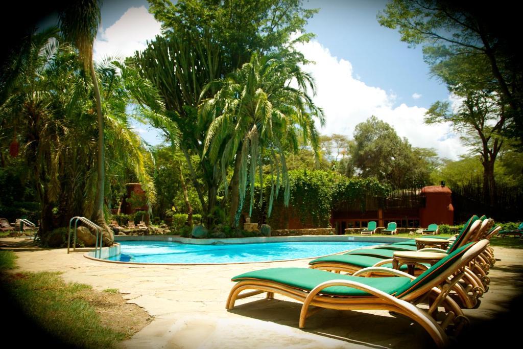 The swimming pool at or close to Amboseli Serena Safari Lodge