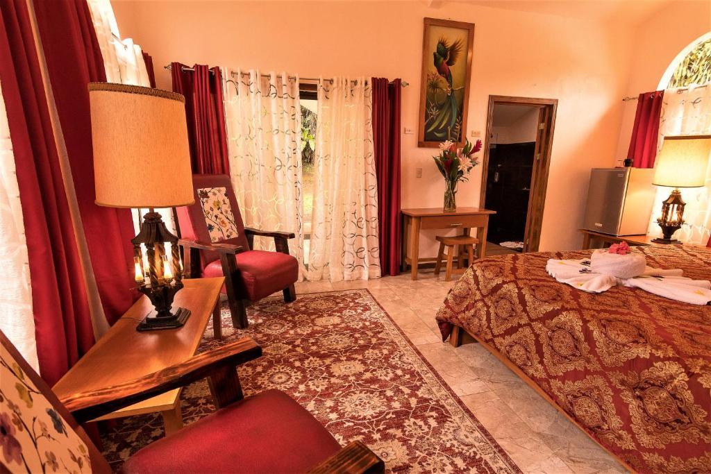 Posedenie v ubytovaní Casa Batsu