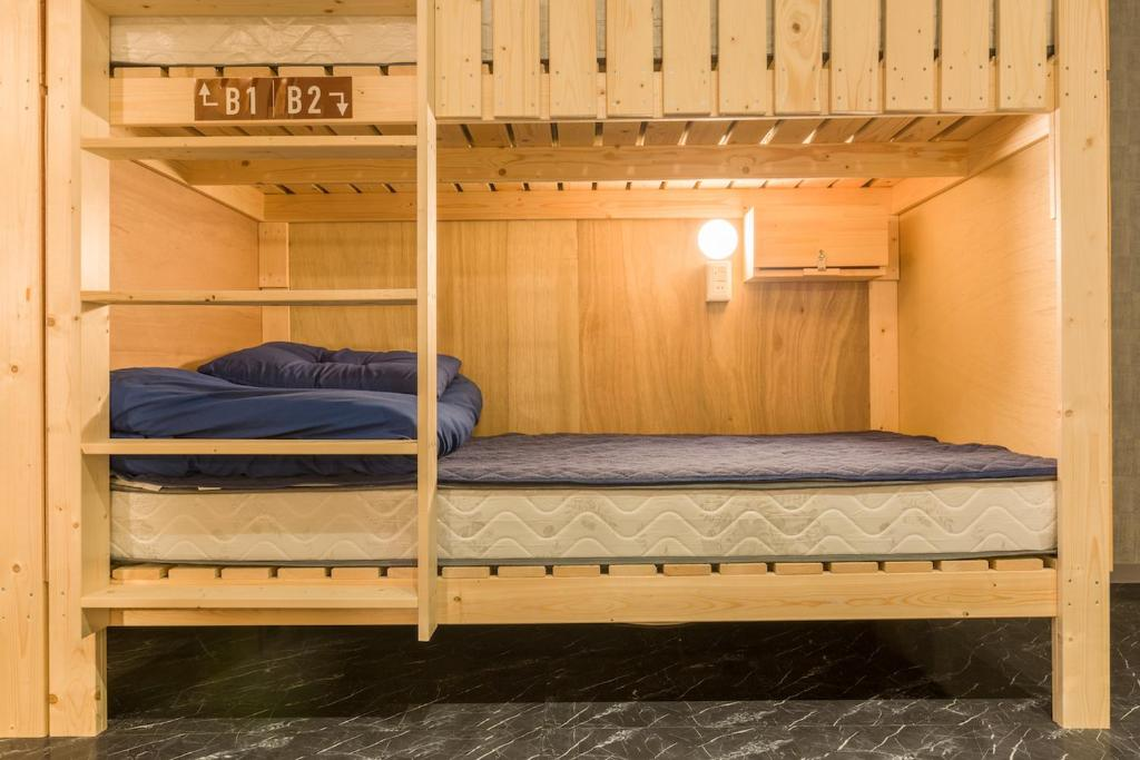 A bunk bed or bunk beds in a room at The Aquarius Inn