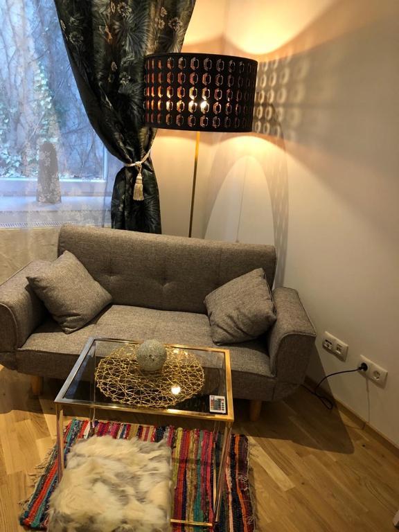 Ein Sitzbereich in der Unterkunft Flair and Design Apartment!