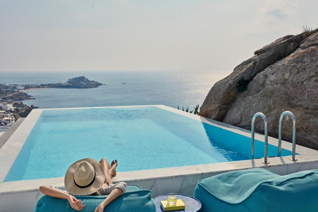 The swimming pool at or near Myconian Ambassador Relais & Chateaux