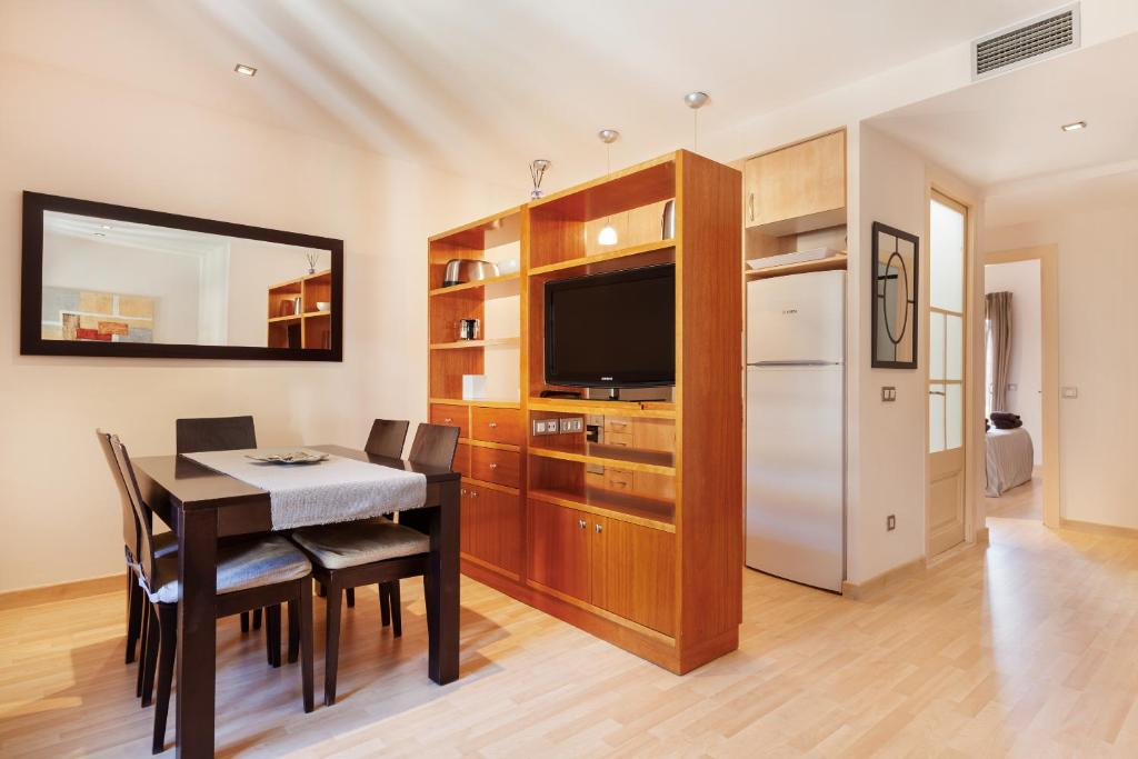 A television and/or entertainment center at Dream Gracia Apartments