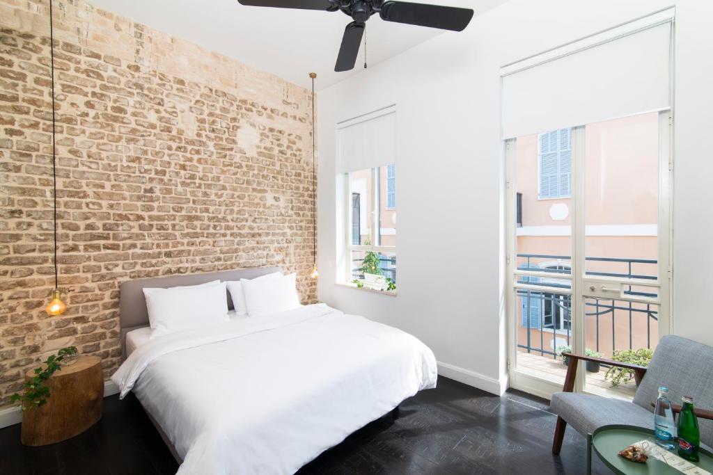 Ein Bett oder Betten in einem Zimmer der Unterkunft Oliver