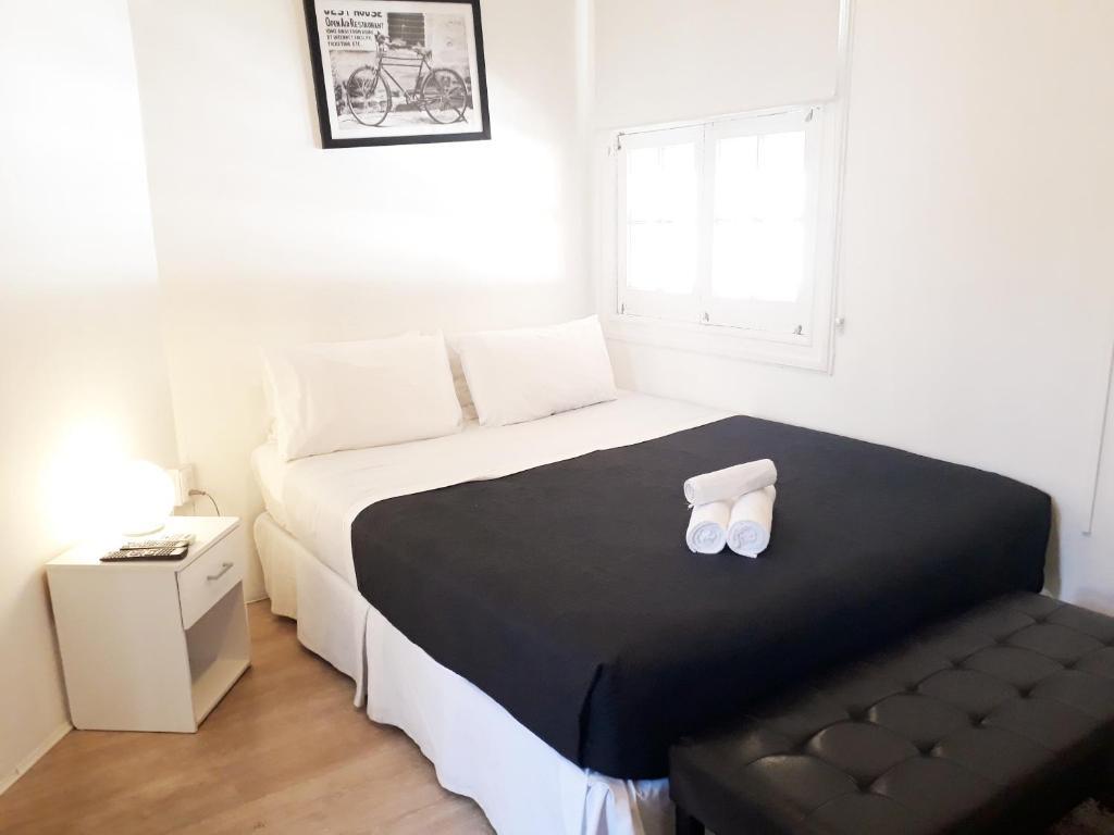 Cama o camas de una habitación en Casona Recoleta