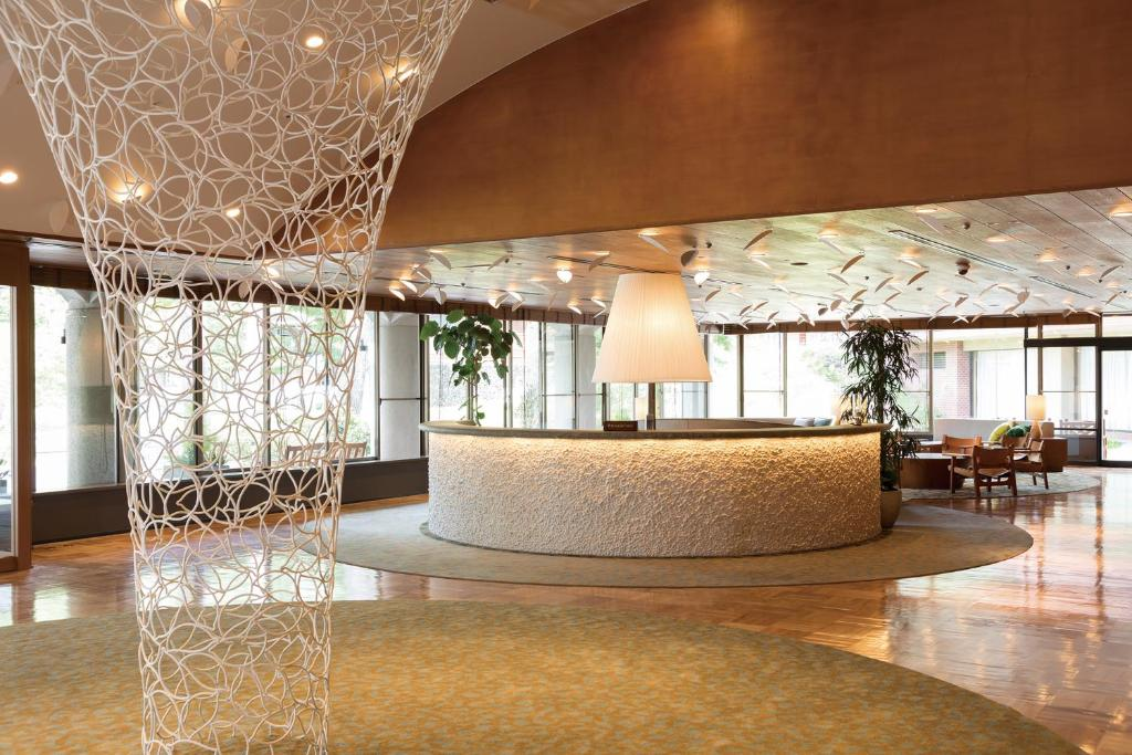 The lobby or reception area at Karuizawa Prince Hotel East