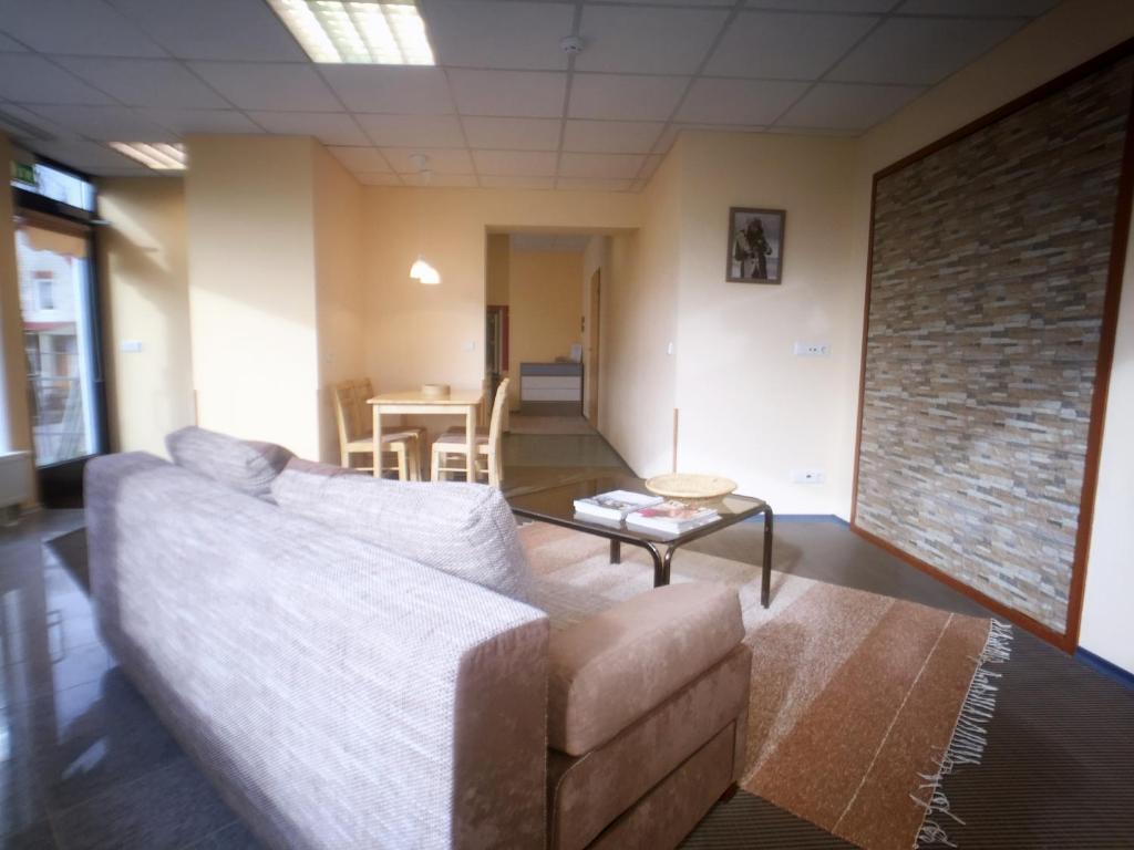 Posezení v ubytování Sunny central apartment