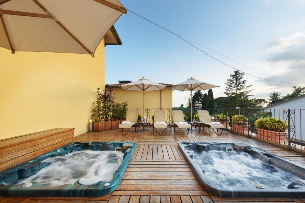 The swimming pool at or near Hotel Corsignano