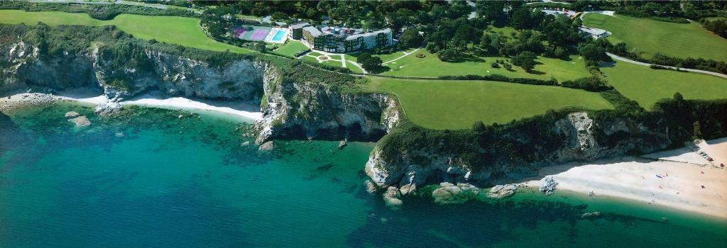 A bird's-eye view of The Carlyon Bay Hotel and Spa