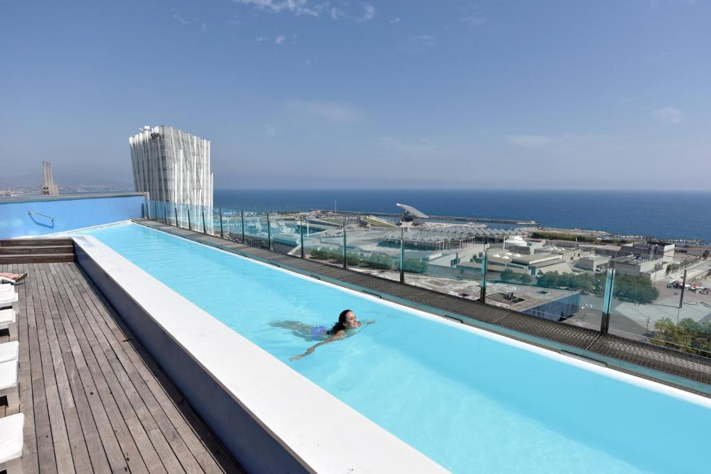 The swimming pool at or close to Barcelona Princess