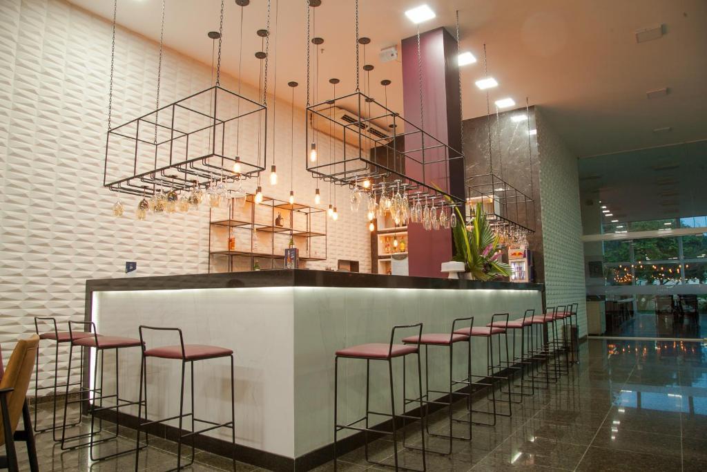 De lounge of bar bij Gran Hotel Arrey