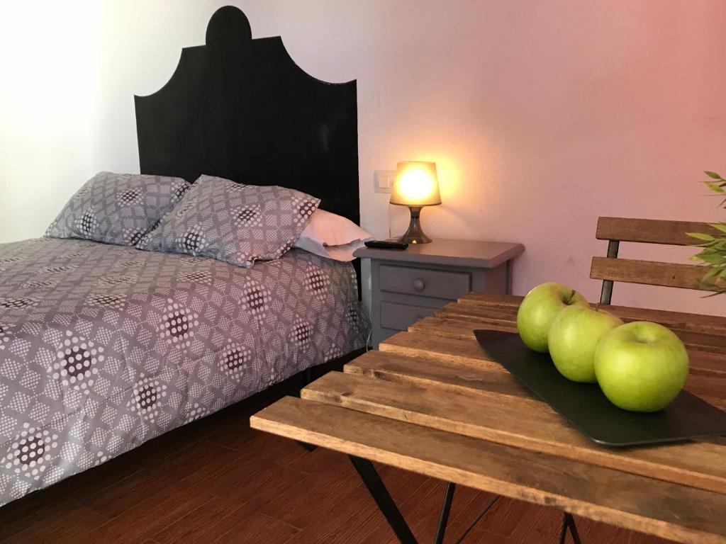 Cama o camas de una habitación en Alojamiento Rural La Mejora