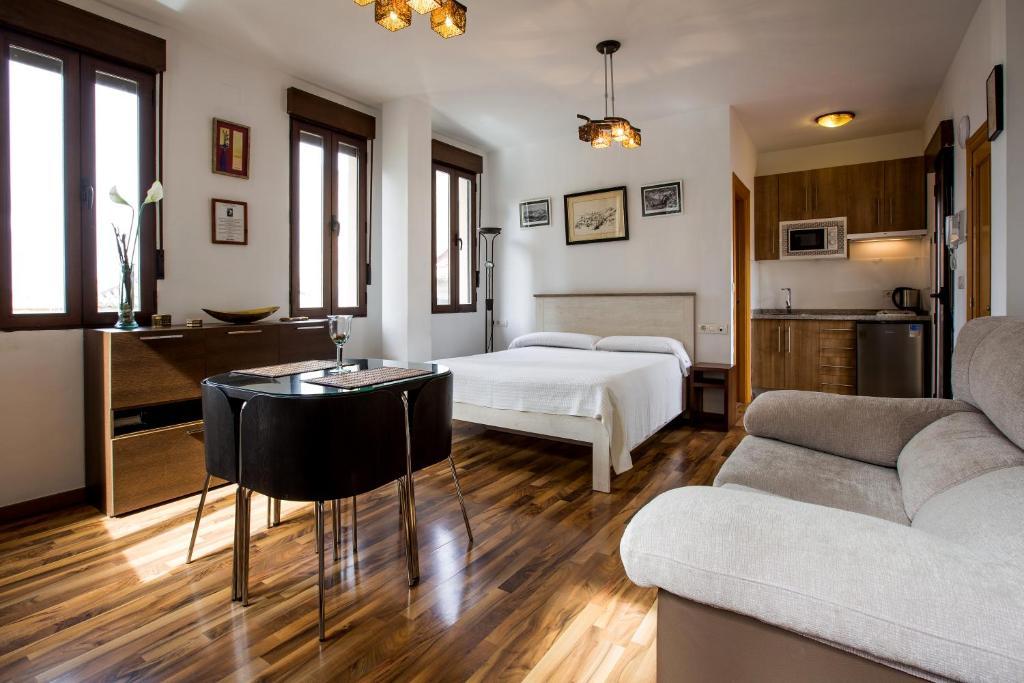 Zona de estar de Apartamentos Casa de la Lonja