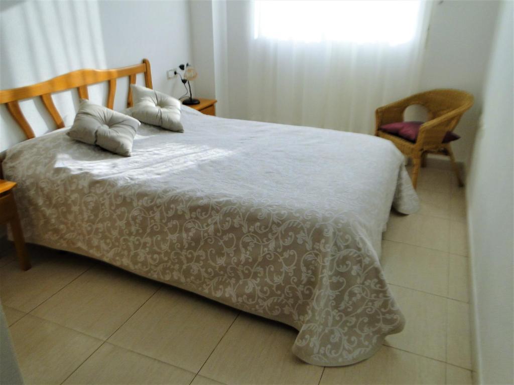Cama o camas de una habitación en Villa Madrid