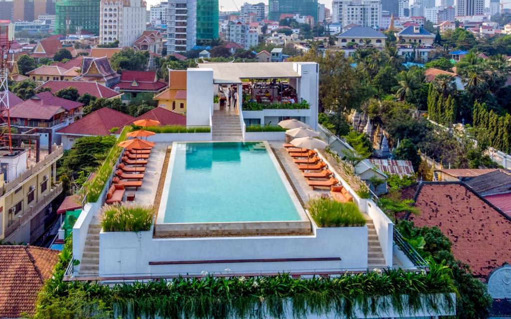 A bird's-eye view of Penh House & Jungle Addition
