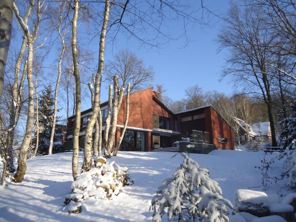 Green Hill Guest House and Apartment during the winter