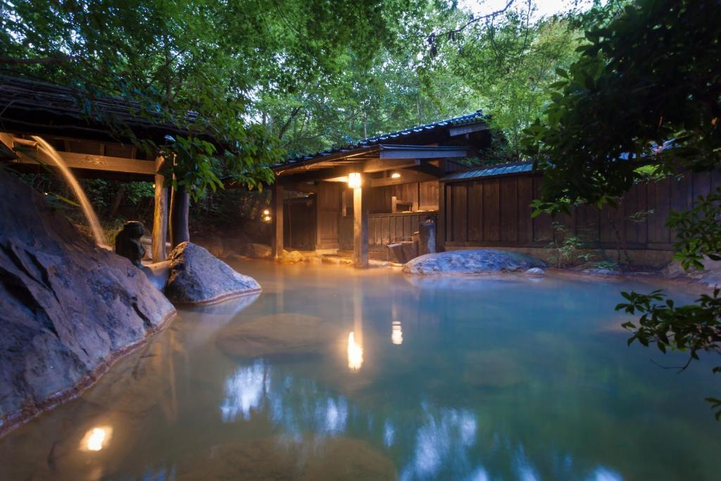 The swimming pool at or near Ryokan Sanga