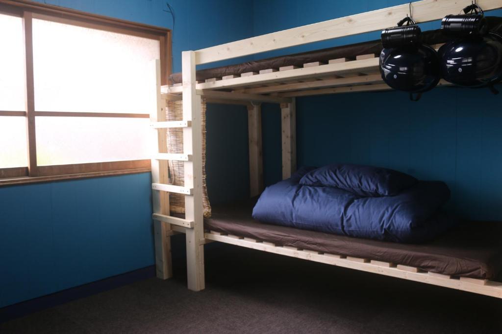 古民家宿ひみつきちにある二段ベッド