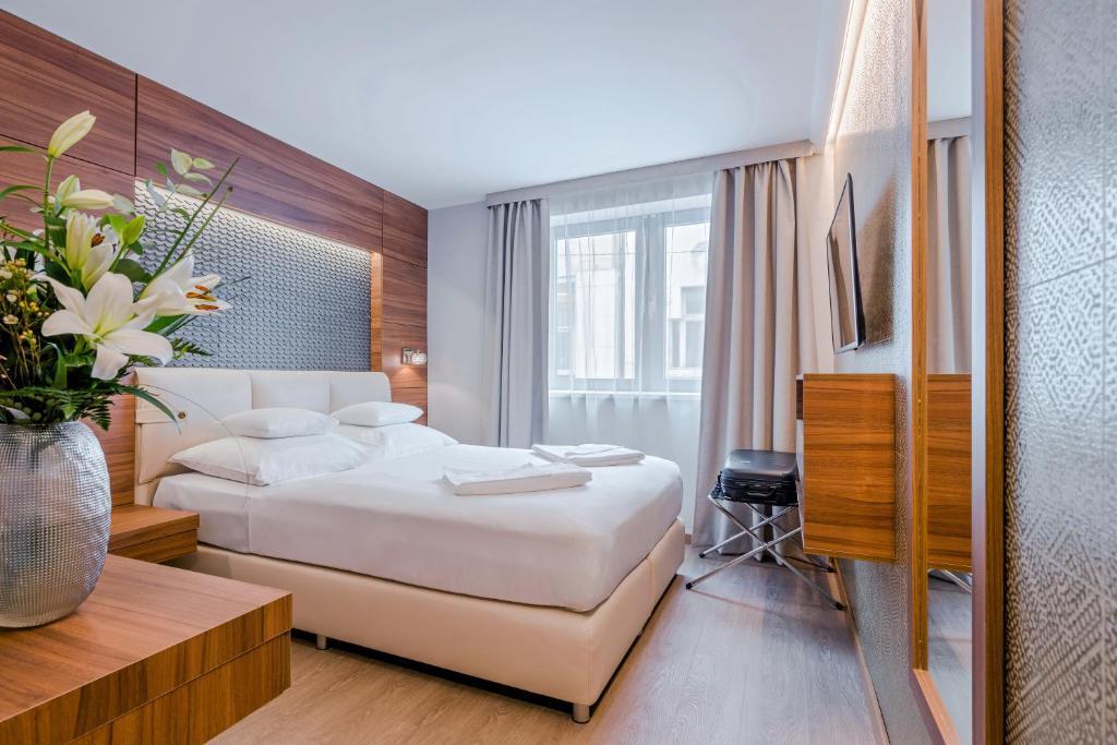 Lova arba lovos apgyvendinimo įstaigoje Boutique Hotel Budapest