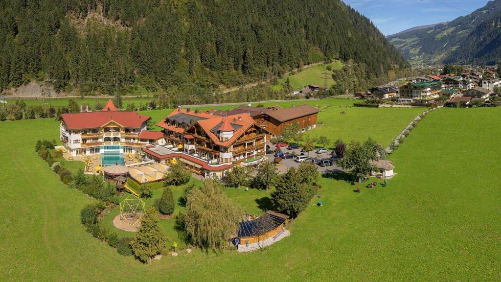 A bird's-eye view of Hotel Edenlehen