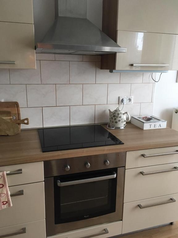 Dapur atau dapur kecil di Garden Apartment