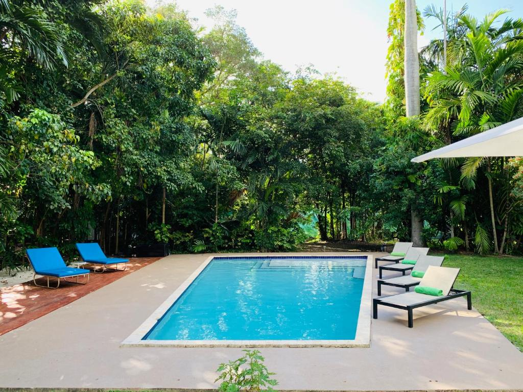 The swimming pool at or near Huge Tropical Airstream Sleeps 6 w Heated Pool on 1.2 acres