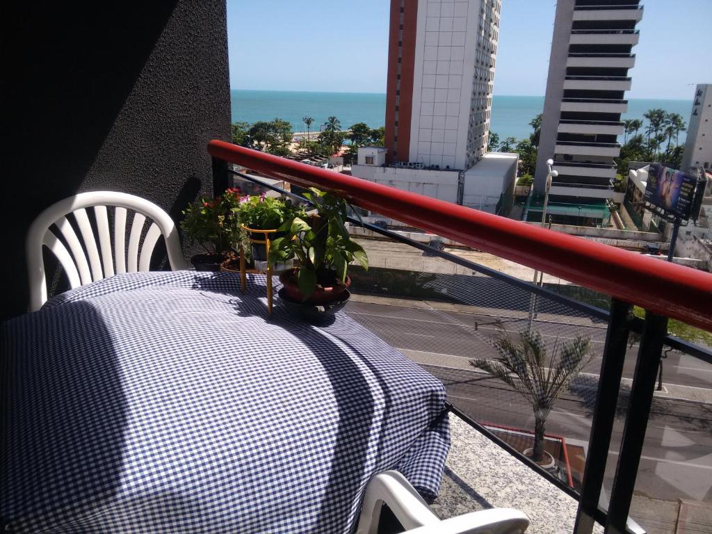 A balcony or terrace at Espaço Cômodo