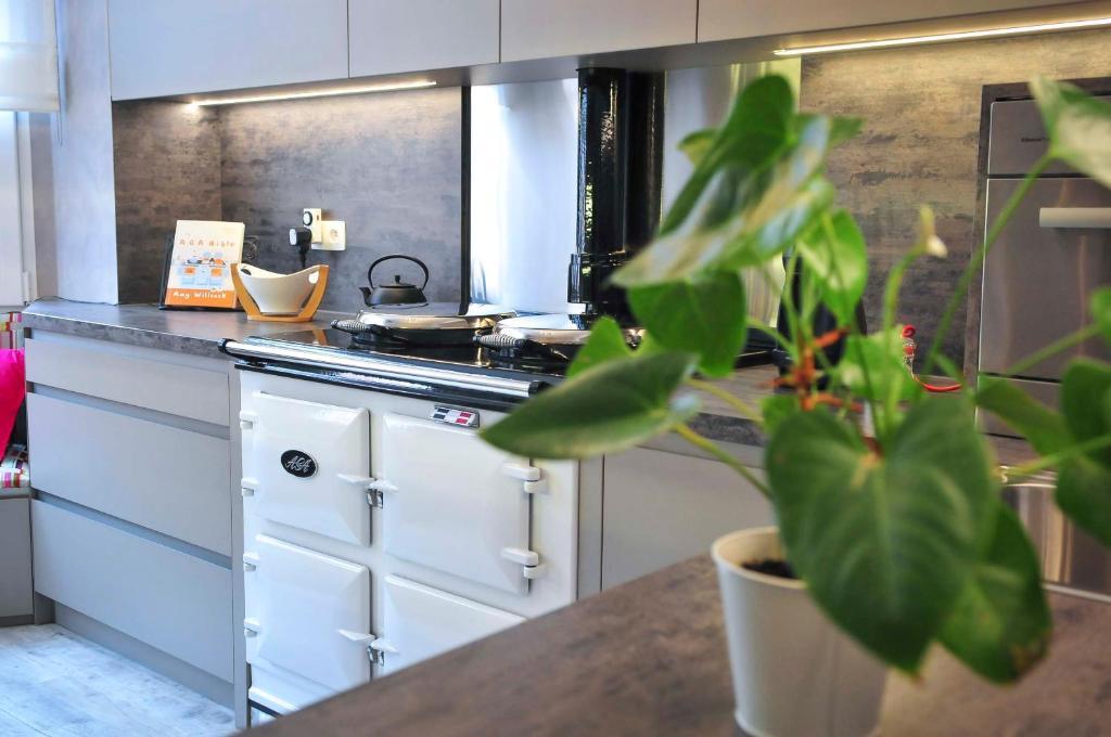 A kitchen or kitchenette at cottage33eupen