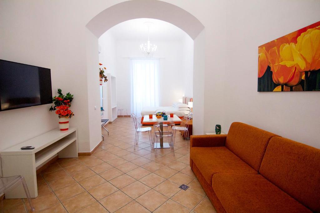 A seating area at Casa Sorrentina
