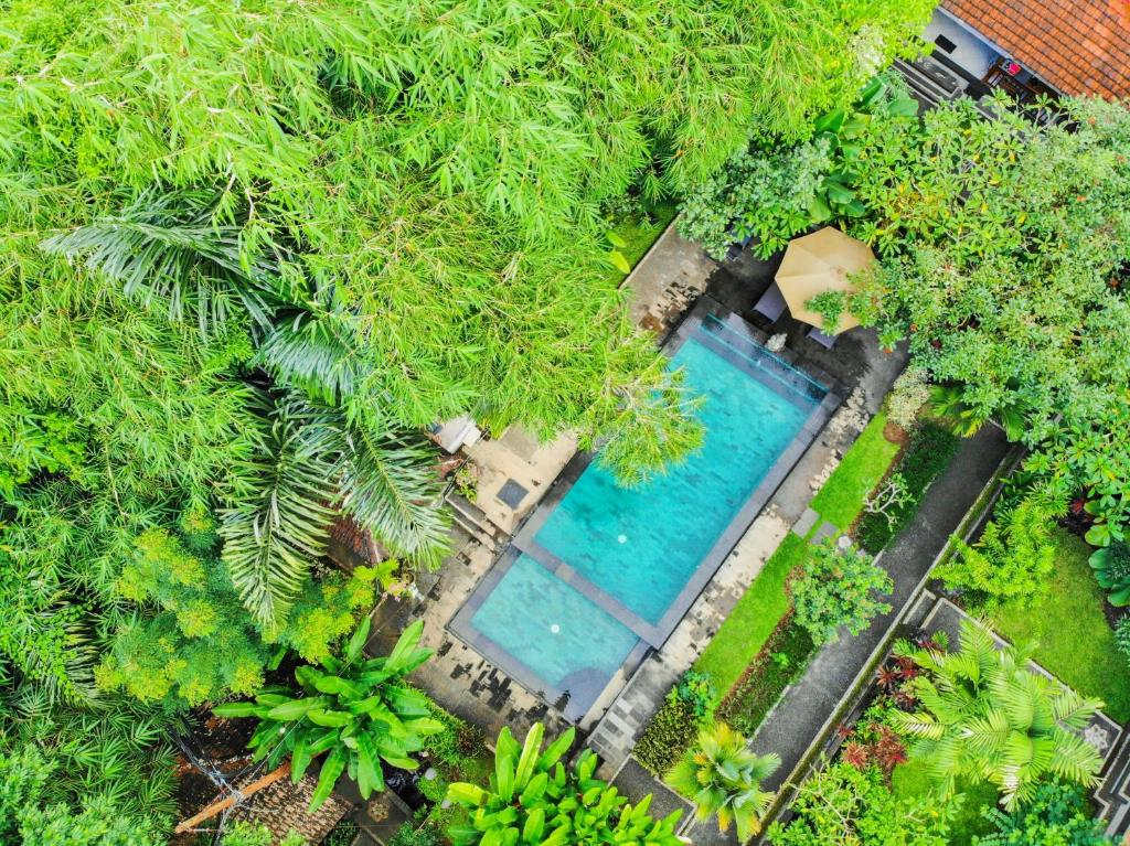 A view of the pool at Sari Bamboo Villas or nearby