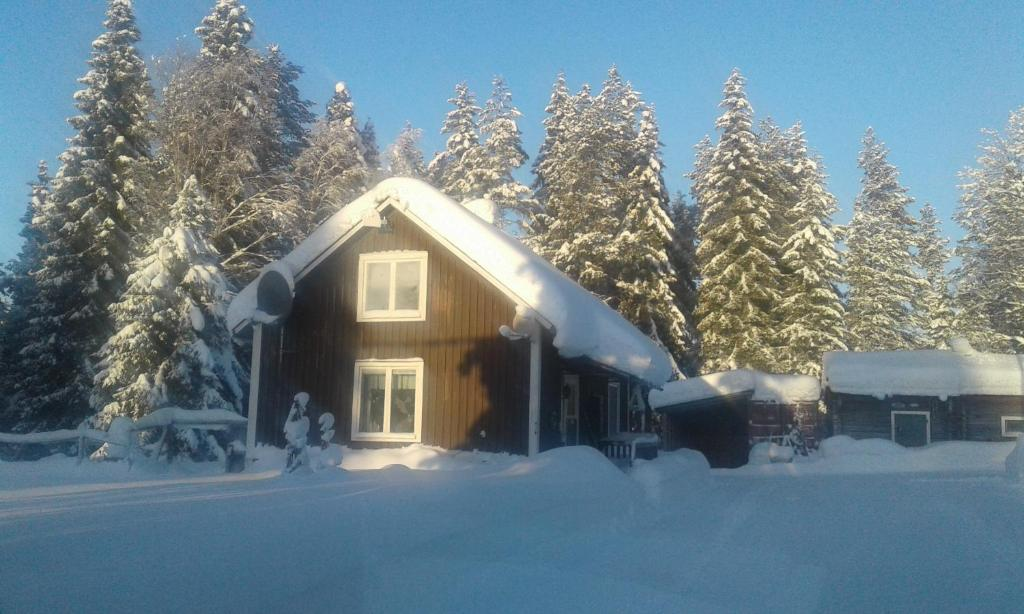 Holiday House in Lapland, Överkalix during the winter