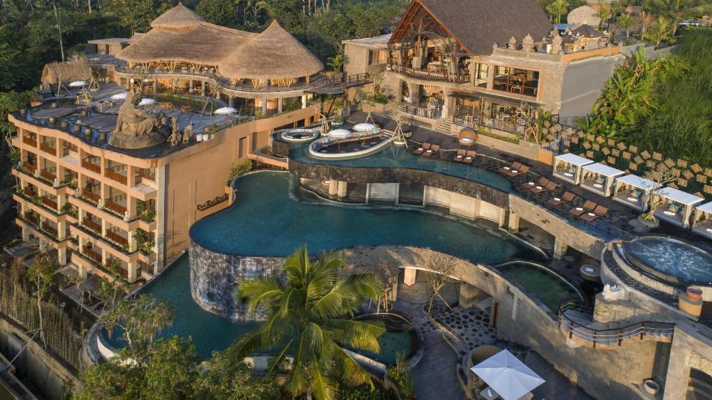 Una vista aérea de The Kayon Jungle Resort by Pramana