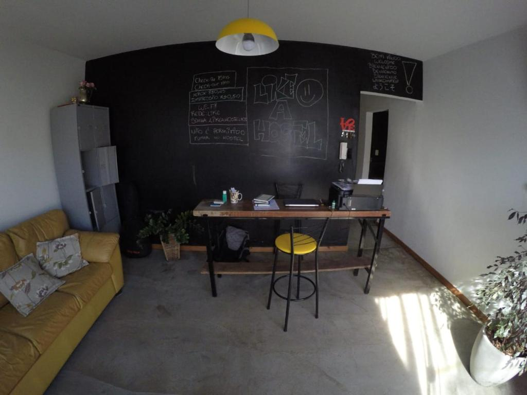 A seating area at Like a Hostel