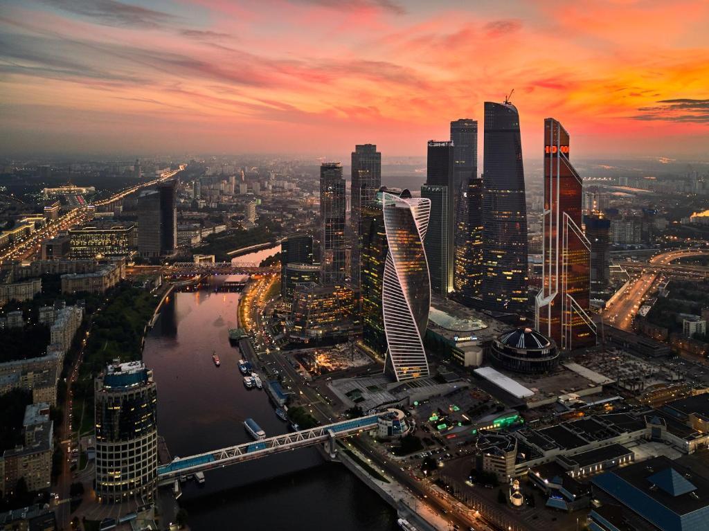 Άποψη από ψηλά του Moscow City House