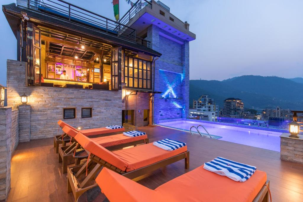 The swimming pool at or close to Hotel Mala Pokhara