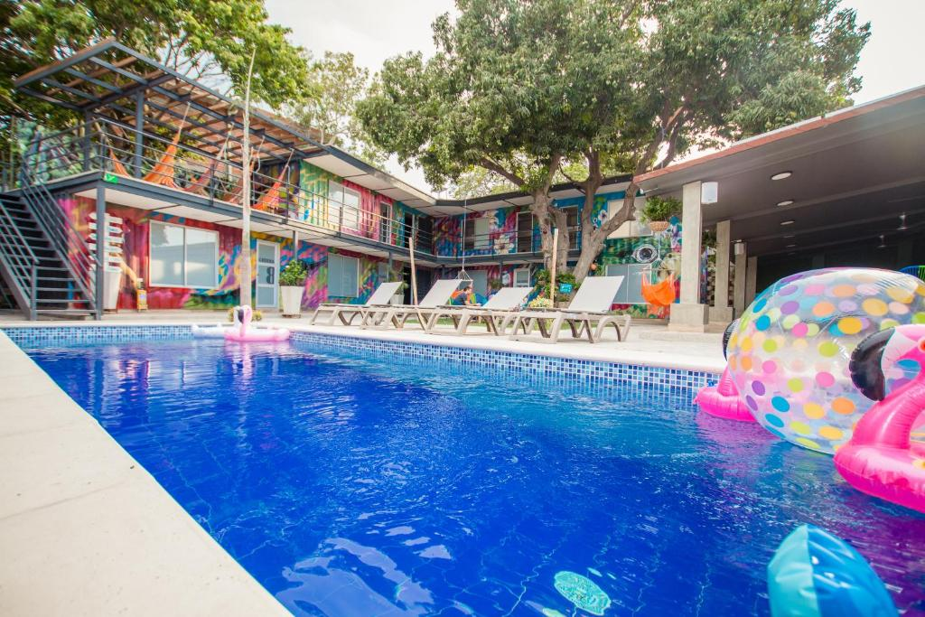 The swimming pool at or near Casa Avelina Hostal