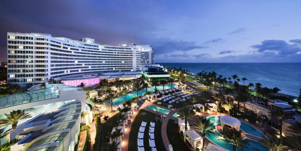A bird's-eye view of Fontainebleau Miami Beach