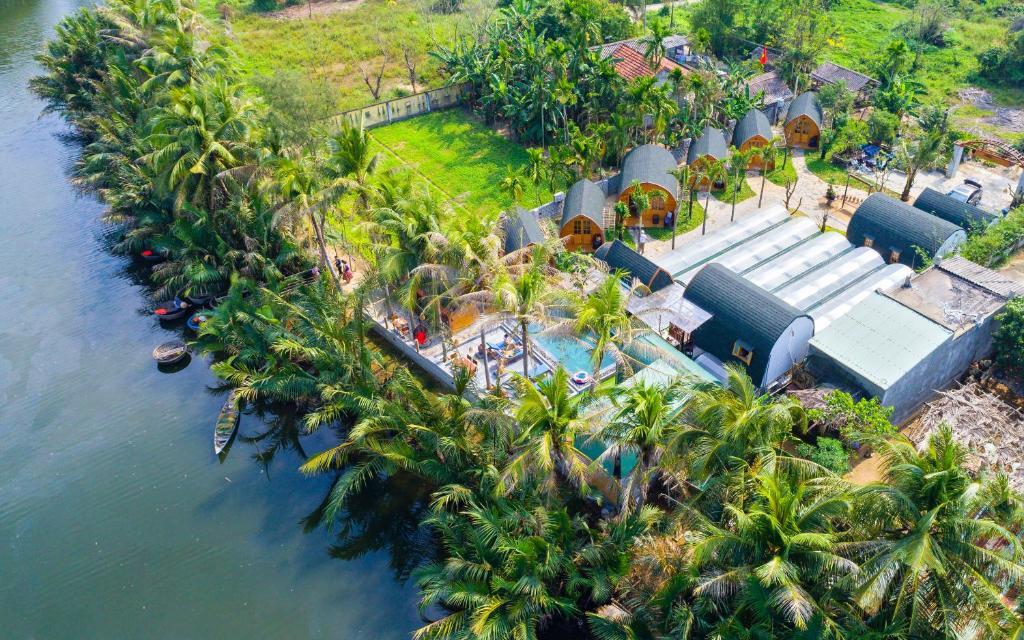 Blick auf CoCo-Farm Hoi An aus der Vogelperspektive