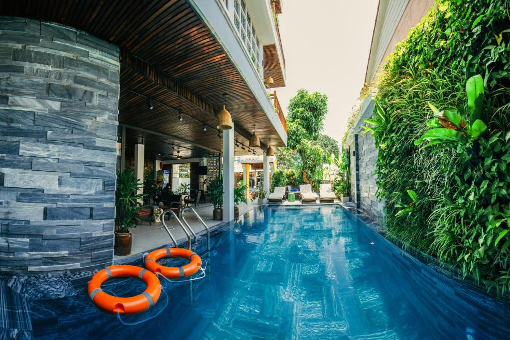 The swimming pool at or near La An Central Boutique Villa